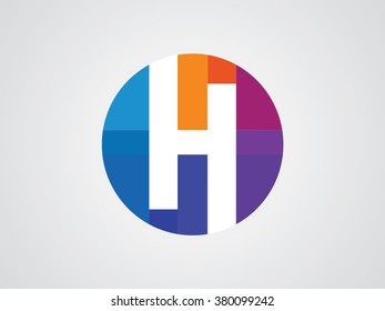 H letters vector logo