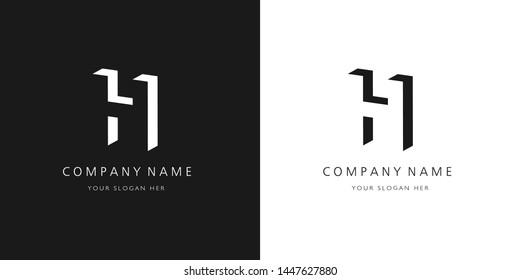 h logo, modern design letter character