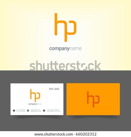 h p joint logo letter design stock vector royalty free 660202312