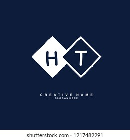 H T HT Initial logo template vector