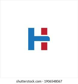 H Unique abstract geometric vector letter logo design
