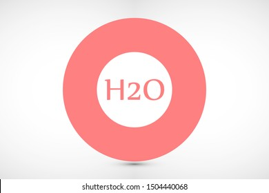 H2o icon. H2o linear symbol design from Science collection. H2o icon vector isolated on white background.H2O icon. Vector concept illustration for design Icon.