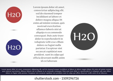 H2o icon. H2o linear symbol design from Science collection.