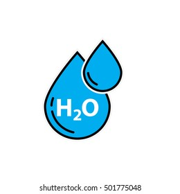 H2O icon - vector illustration.