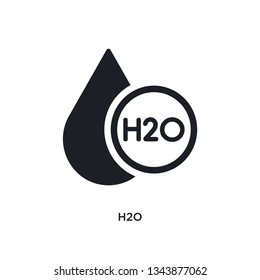 h2o isolated icon. simple element illustration from science concept icons. h2o editable logo sign symbol design on white background. can be use for web and mobile