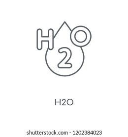 H2o linear icon. H2o concept stroke symbol design. Thin graphic elements vector illustration, outline pattern on a white background, eps 10.
