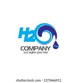 H2O logo design