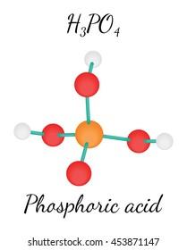 H3PO4 Phosphoric acid molecule