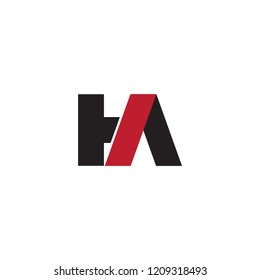 HA initial letter linked logo template design vector