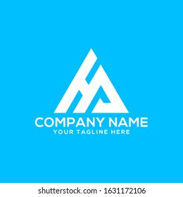 HA letter logo and icon design. HA, H A Letter Logo Design in white Colors.