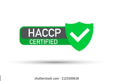 HACCP Certified icon on white background.  Vector stock illustration.