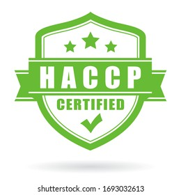 Haccp certified vector icon isolated on white background