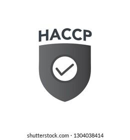 HACCP | Hazard Analysis Critical Control Points icon with award or checkmark