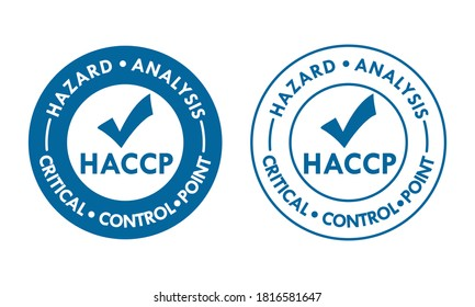 HACCP - Hazard Analysis and Critical Control Points logo template illustration