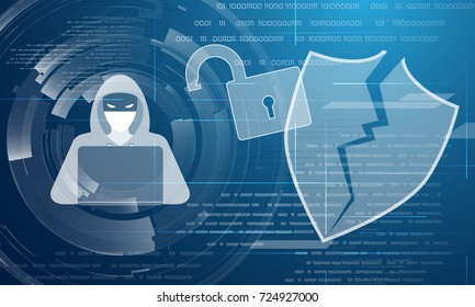 Hacker attack abstract background
