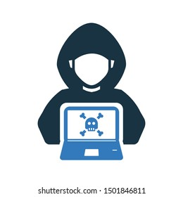 Hacker Icon, Hacking, Cyber Crime, Stealing Data