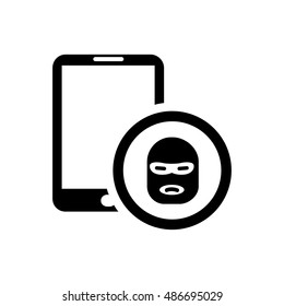 Hacker icon illustration isolated vector sign symbol