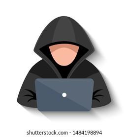 hacker vector images stock photos vectors shutterstock https www shutterstock com image vector hacker laptop icon flat illustration vector 1484198894