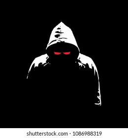 Hacker mysterious silhouette vector graphic