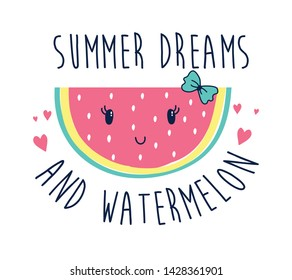 had drawing watermelon vector illustration.