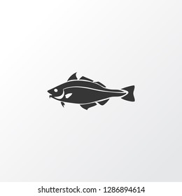 Haddock icon symbol. Premium quality isolated codfish element in trendy style.