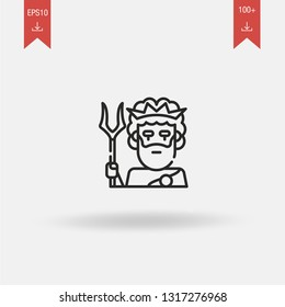 Hades linear vector icon. Modern outline Hades logo concept on white background from Greek Mythology collection. Suitable for use on web apps, mobile apps and print media.