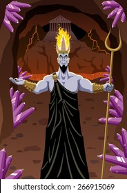 Hades welcomes you to the Underworld. No transparency used. Basic (linear) gradients.