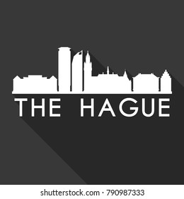 The Hague Netherlands Europe Flat Icon Skyline Silhouette Design City Vector Art Famous Buildings