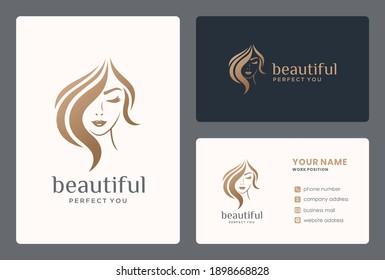 hair beauty logo design for salon, makeover, hair stylist, haidresser, hairc cut.