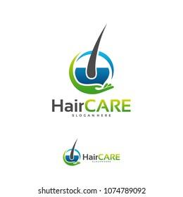 Hair Care logo designs concept vector, Hair logo designs