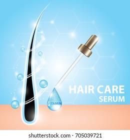 Hair care serum vector
