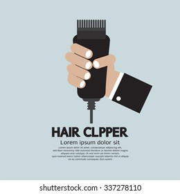 Hair Clipper, Tool Of Hairdresser Vector Illustration