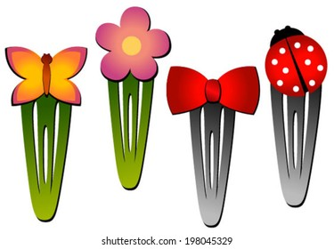 hair clips flower, bow, butterfly, bow