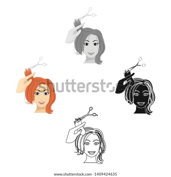 Hair Cutting Scissors Cartoon 58