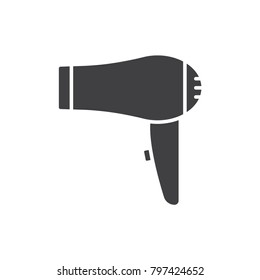 Hair dryer black solid icon.