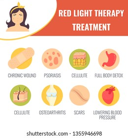 Hair growth stimulation. Red light therapy treatment. Cosmetology concept. Vector illustration