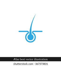 Hair icon vector illustration eps10.