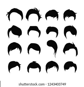 Hair icons vector