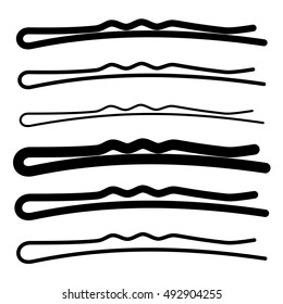 hair pin black symbol vector