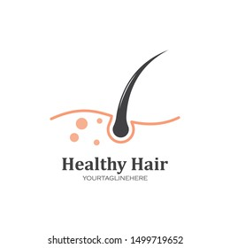 hair root icon vector illustration design template