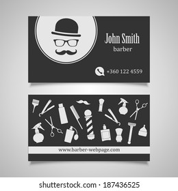 Hair salon barber shop business card stock vector royalty free hair salon barber business card design template colourmoves