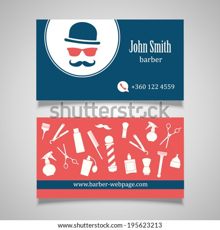 Hair salon barber business card design stock vector royalty free hair salon barber business card design template cheaphphosting Image collections
