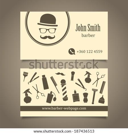 Hair salon barber shop business card stock vector royalty free hair salon barber shop business card design template colourmoves