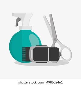 Hair salon and barber shop tools design
