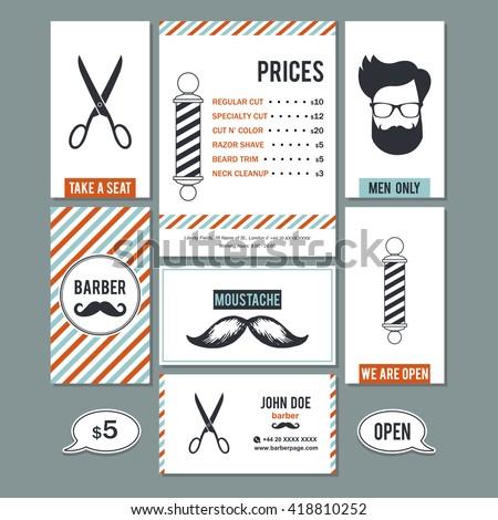 hair salon barber shop vintage sign のベクター画像素材
