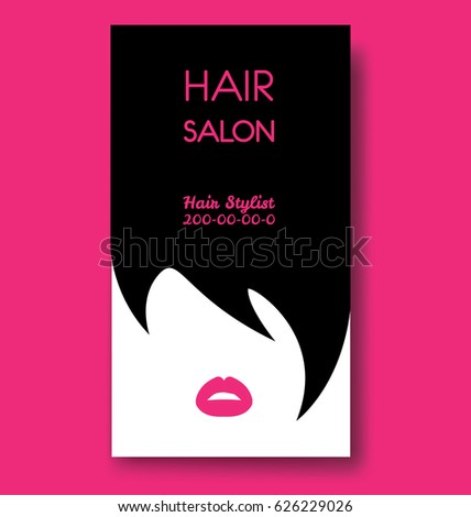 Hair salon business card templates black stock vector royalty free hair salon business card templates with black hair and beautiful woman face silhouette friedricerecipe Images