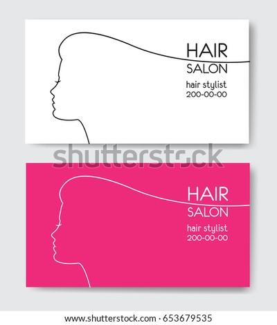 Hair Salon Business Card Templates Beautiful Stock Vector Royalty