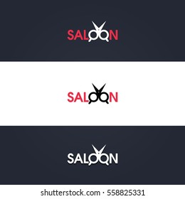 Hair Salon Logo.Cosmetic salon logo design