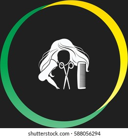 Hair salon vector  icon