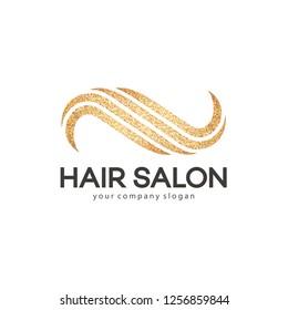 Hair salon vector logo design template